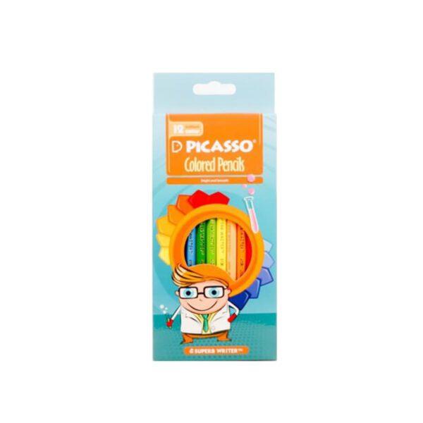 مداد رنگی 12 رنگ جعبه مقوایی پیکاسو