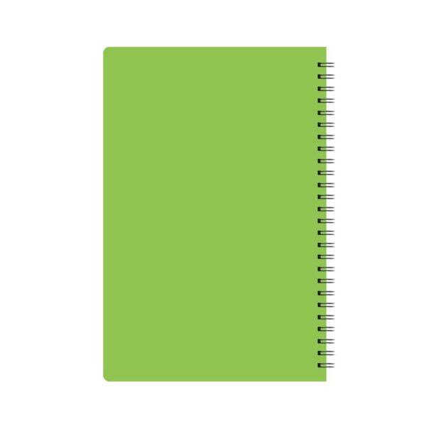 دفتر خطی سیمی 100 برگ جلد pp ساده نور