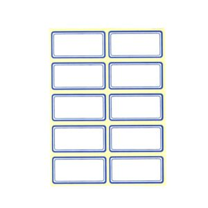 برچسب دور آبی 4x2 سانتی متر بسته 100 عددی