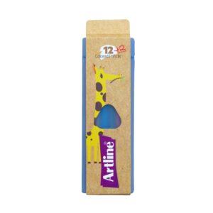 مداد رنگی 2+12 رنگ جعبه پلاستیکی آرت لاین