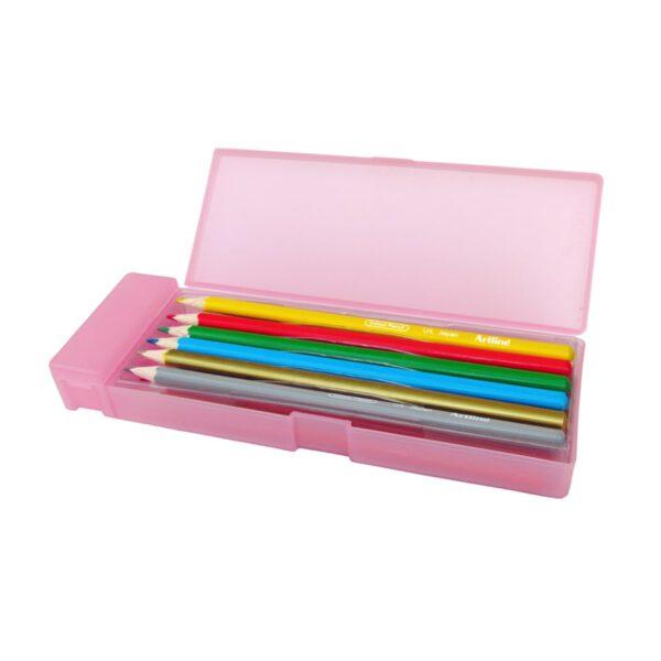 مداد رنگی 12 رنگ جعبه پلاستیکی ویژه آرت لاین