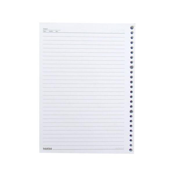 کاغذ کلاسور خطی 26 سوراخ بسته 80 عددی پاندا