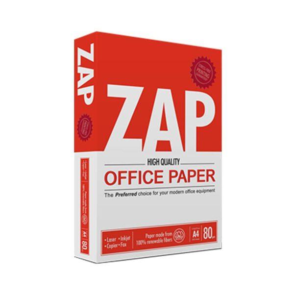 کاغذ A4 گرماژ 80 بسته 500 عددی زاپ