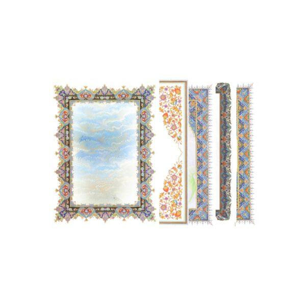 کاغذ تذهیب گلاسه B5 بسته 100 عددی مخصوص خوشنویسی